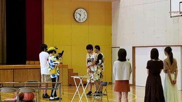 体育館にて「麒麟・田村のバスケでババババーン!」が収録されました