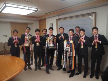 青森大学新体操部が青森県知事を表敬訪問しました