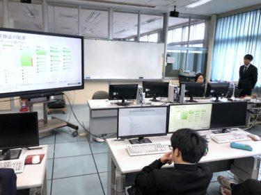 ソフトウェア情報学部の学生が弘前実業高校で研究紹介