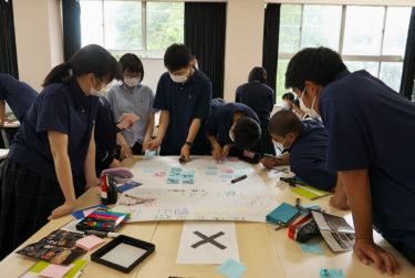 第2回連携授業でグループごとに活動