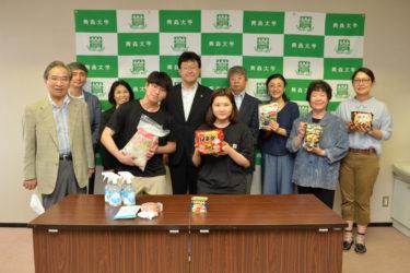 在日本大韓民国民団青森県地方本部から支援品をいただきました