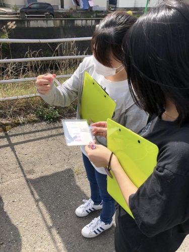 ソフトウェア情報学部の学生がみずしるべ調査を実施